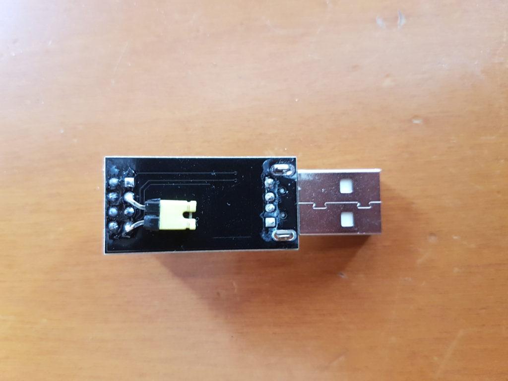 programmatore ESP01 - modifica